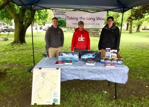 Bailey, Eric, and Nate tabling at the Canton Farmers Market